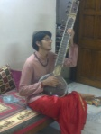 This is no young Boul Singer: it is my son, Anand Parikh soon after Puja