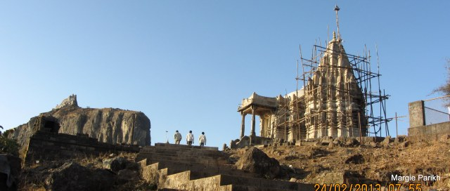 A Jain temple being restored at Pavagadh