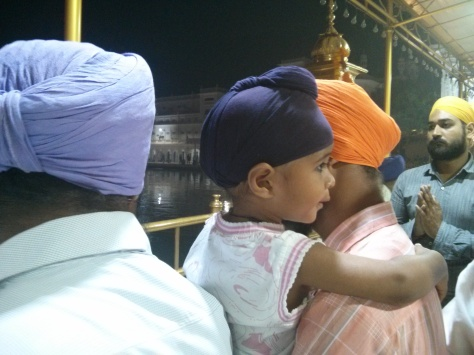 The young get initiated in the faith - early am at Suvarna Mandir (c) margie Parikh