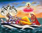 Laxmi at feet of vishnu