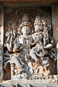 Parvati on Shiv's lap