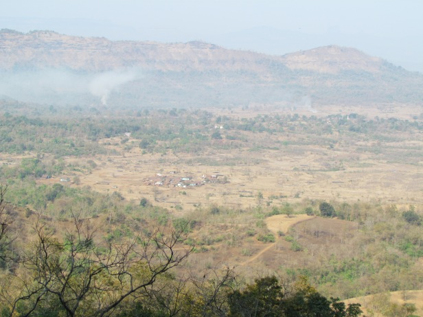 Khandas Village as seen from the way to Shidi ghat