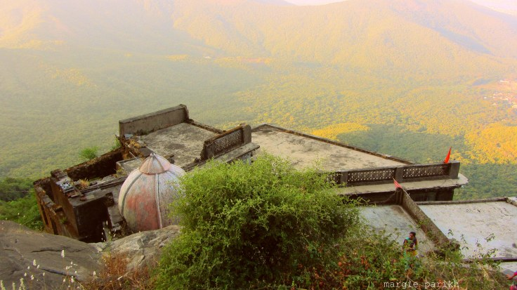House on a ledge of Girnar