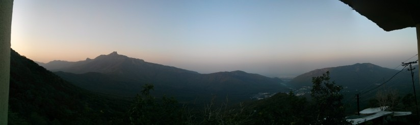 Dawn breaks, ઉષા appears ahead of sunrise at Girnar