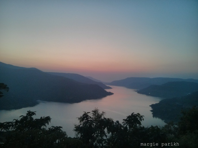 Sunset at Lavasa as viewed from Ekanta (c) margie parikh
