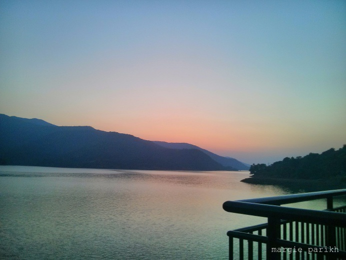 Sunset as viewed from Ekanta at Lavasa (c) margie parikh