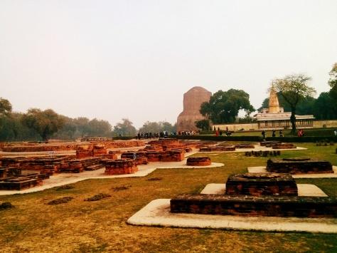 Stupa at distance at Sarnath