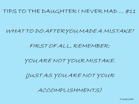 You are not your mistakes