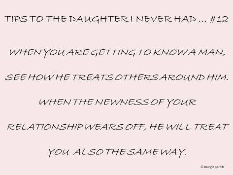 Tips to my daughter #12