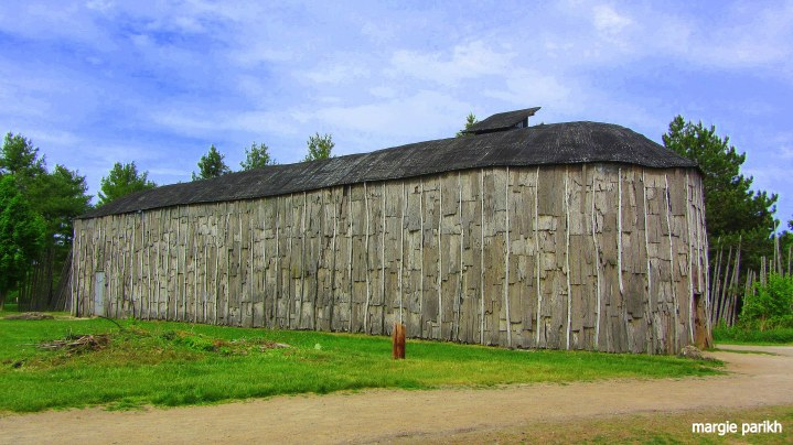 One of the Wendat long houses at Crawford Lake Conserve