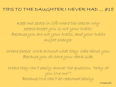 Tips to my daughter #18