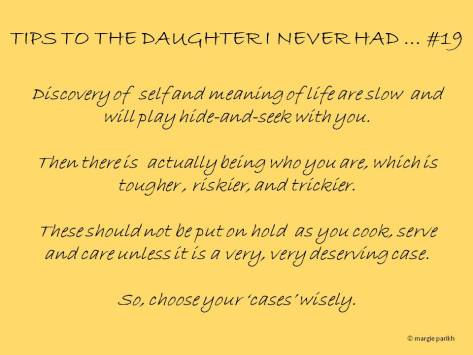 Tips to my daughter #19