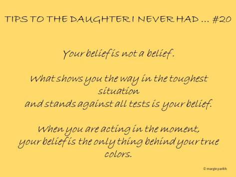 Tips to my daughter #20