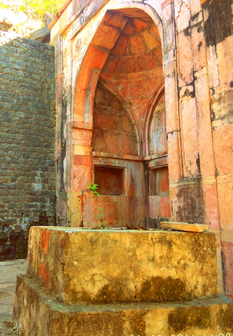 Blade of Tulsi at Nageshwar temple, Mandu (c)margieparikh