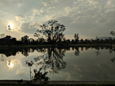 Sunset at Kangla Fort Gardens